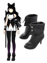 Anime Costumes AF-S2-568693 Black Rwby Blake Belladonna PU Cosplay Shoes