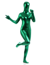 Anime Costumes AF-S2-568379 Green Shiny Metallic Cosplay Zentai Suits for Women