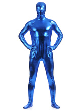 Anime Costumes AF-S2-568457 Royal Blue Shiny Metallic Zentai Suits for Men