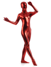 Anime Costumes AF-S2-568375 Red Shiny Metallic Zentai Suits Cosplay for Women