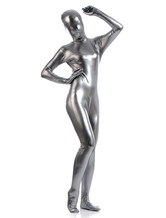 Anime Costumes AF-S2-568383 Silver Shiny Metallic Zentai Suits for Women