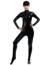 Anime Costumes AF-S2-568399 Black Halloween Costume Cosplay Shiny Metallic Cosplay Zentai Suit
