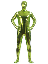 Anime Costumes AF-S2-568459 Green Shiny Metallic Zentai Suits for Men