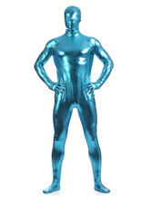 Anime Costumes AF-S2-568465 Blue Shiny Metallic Zentai Suits for Men