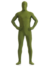 Anime Costumes AF-S2-568605 Halloween Green Lycra Spandex Zentai Suit for Men Morphsuits