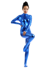 Anime Costumes AF-S2-568427 Royal Blue Shiny Metallic Cosplay Zentai Suit for Women