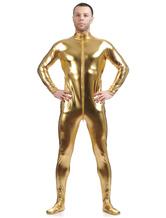Anime Costumes AF-S2-568471 Halloween Costume Cosplay Yellow Shiny Metallic Cosplay Zentai Suit for Men