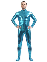 Anime Costumes AF-S2-568485 Light Sky Blue Shiny Metallic Cosplay Zentai Suit for Men