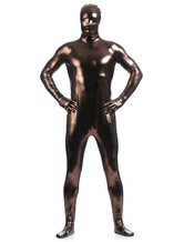 Anime Costumes AF-S2-568463 Brown Shiny Metallic Zentai Suits for Men