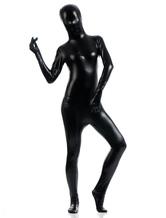 Anime Costumes AF-S2-568377 Black Shiny Metallic Zentai Suit Halloween Adult Full Bodysuit