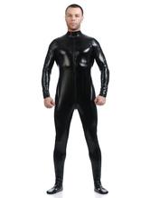Anime Costumes AF-S2-568477 Classic Black Shiny Metallic Cosplay Zentai Suit Halloween Costume