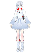 Anime Costumes AF-S2-568701 White Rwby Weiss Schnee PU Cosplay Shoes