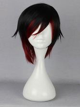 Anime Costumes AF-S2-568677 Split Color Ruby Rose Red Cosplay Wig