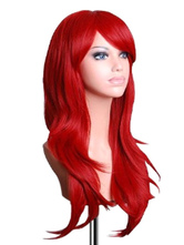 Anime Costumes AF-S2-568951 Red Side-swept Bangs Women's Long Wig
