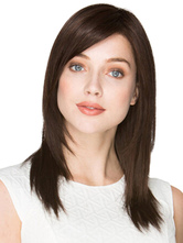 Anime Costumes AF-S2-568959 Brown Side-swept Bangs Straight Women's Medium Wig