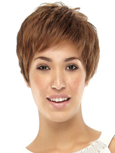 Anime Costumes AF-S2-568961 Blonde Short Wig For Women In Boycuts