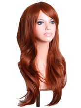 Anime Costumes AF-S2-568989 Brown Side-swept Bangs Woman's Long Wig