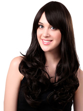 Anime Costumes AF-S2-568969 Brown Side-swept Bangs Long Curly Wig For Woman