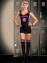 Anime Costumes AF-S2-569455 Halloween Black Polyester Enticing Cheerleader Costume