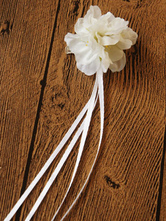Lolitashow White Synthetic Lolita Hairpin for Girls