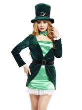 Anime Costumes AF-S2-569765 Green Holiday Polyester Cosplay Costumes for Women