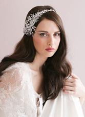 Pearl Rhinestone Bridal Head Flower