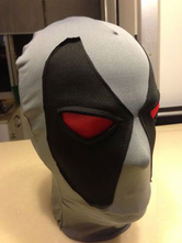 Anime Costumes AF-S2-570567 Halloween Gray Deadpool Hood Marvel Lycra Spandex Super Man Costume Cosplay