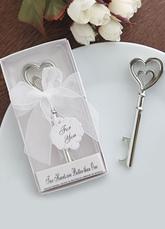 Heart Key Bottle Opener Wedding Favor