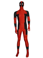 AF-S2-570559 Halloween Deadpool Costume Cosplay Super Hero Zentai Full Bodysuit Lycra Spandex Suit