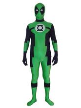 Anime Costumes AF-S2-570565 Halloween Green Deadpool Zentai Suit Marvel Lycra Spandex Super Man Costume Cosplay