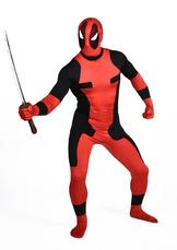 Anime Costumes AF-S2-570561 Halloween Deadpool Costume Cosplay Lycra Spandex Zentai Suit Super Man Full Bodysuit