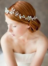 Rhinestone Clustered Bridal Head Piece