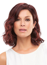 Anime Costumes AF-S2-570957 Burgundy Lob Curly Women's Medium Wig