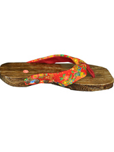 Anime Costumes AF-S2-571801 Japanese Floral Print Wood Geta for Women