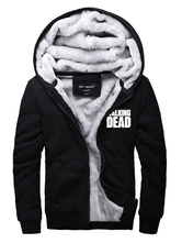 Anime Costumes AF-S2-571829 Halloween The Walking Dead Black Letters Printed Cotton Casual Hoodie for Juniors