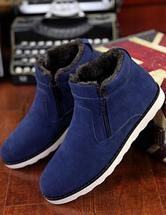 Stivali in camoscio blu Cashmere uomo