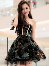Emerald Green Synthetic Lolita Corset for Women