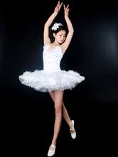 Anime Costumes AF-S2-572407 White Stylish Lycra Spandex Ballet Dress for Women