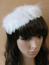 Anime Costumes AF-S2-572383 White Ballerina Feather Ballet Hair Accessories for Women