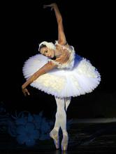 Anime Costumes AF-S2-572405 White Trendy Lycra Spandex Ballet Dress for Women