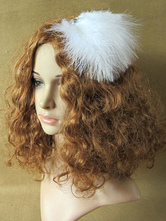 Anime Costumes AF-S2-572379 White Dense Feather Ballet Hair Accessories for Women