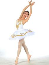 Anime Costumes AF-S2-572411 White Print Lycra Spandex Ballet Dress for Women