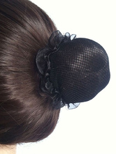Anime Costumes AF-S2-572369 Black Nylon Ballet Hairnets Set of 4