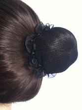 Anime Costumes AF-S2-572369 Black Nylon Ballet Hairnets Set of 4