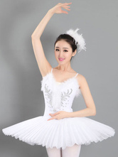 Anime Costumes AF-S2-572415 White Print Lycra Spandex Ballet Dress for Women