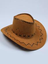Anime Costumes AF-S2-573017 Halloween Light Tan Cowboy Denim Cosplay Hat for Men&Women