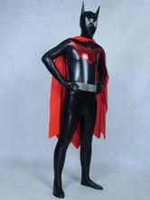 Anime Costumes AF-S2-573053 Halloween Color Block Batman Shiny Metallic Zentai for Men&Women