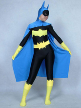 Anime Costumes AF-S2-573051 Halloween Unisex Color Block Batman Costume Cosplay Lycra Spandex Zentai Suit Morphsuits