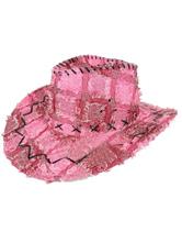 Anime Costumes AF-S2-573019 Halloween Pink Color Block Cowboy Denim Cosplay Hat for Men&Women