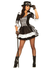 Anime Costumes AF-S2-573005 Sexy Steampunk Two-Toned Ruffled Retro Polyester Dress For Women